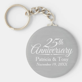 25th Wedding Anniversary Personalized Key Ring