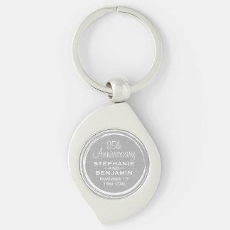 25th Wedding Anniversary Personalized Key Ring
