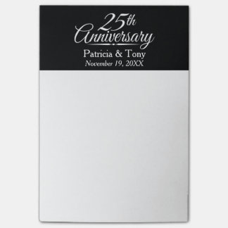 25th Wedding Anniversary Personalized Post-it Notes