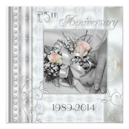 25th Wedding Anniversary Photo Invitation