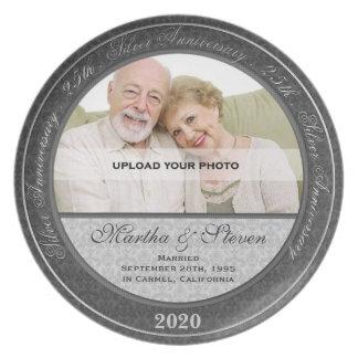 25th Wedding Anniversary Photo Plate
