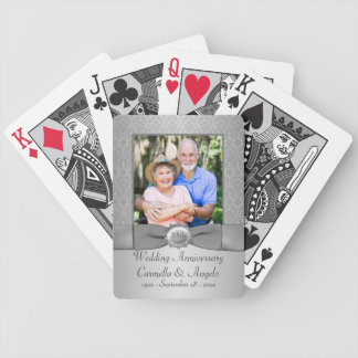 25th Wedding Anniversary Playing Cards