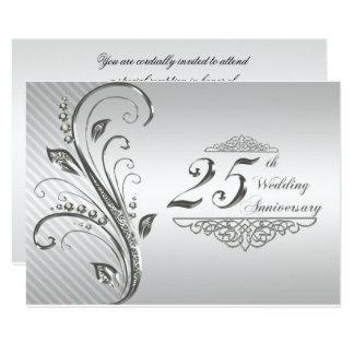 25th Wedding Anniversary RSVP 9 Cm X 13 Cm Invitation Card