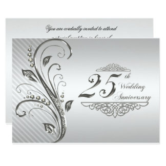 25th Wedding Anniversary RSVP Card