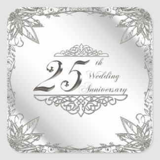 25th Wedding Anniversary Stickers