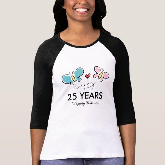 25th Wedding anniversary t shirt   Personalised