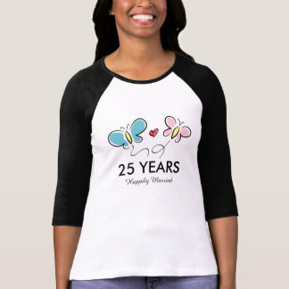 25th Wedding anniversary t shirt | Personalized