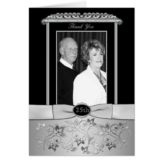 25th Wedding Anniversary Thank You Card with Photo