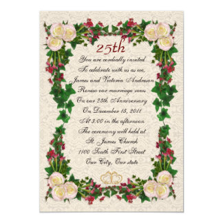 25th Wedding anniversary vow renewal Card