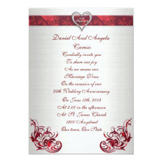 25th wedding anniversary Vow renewal invitation