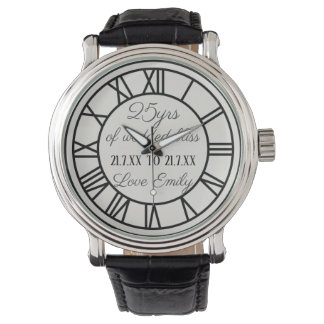 25th Wedding Anniversary Watch Roman Numerals