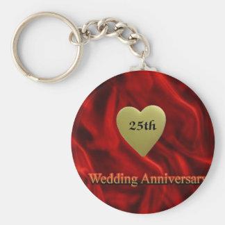25th wedding anniversay key ring