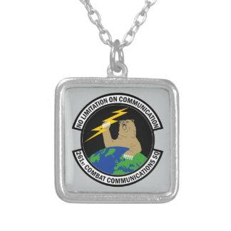 261st Combat Communications Squadron Square Pendant Necklace