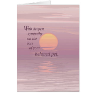 2620 Sunrise Pet Sympathy Card
