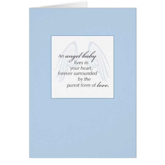 2652 Angel Baby Wings Blue Sympathy Card
