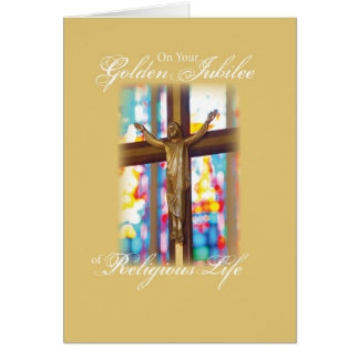 2683 Golden Jubilee Stained Glass Card