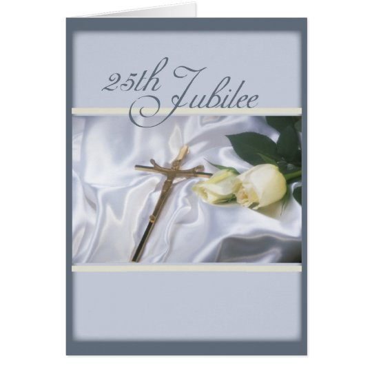2684   25th Jubilee Cross & Roses Card