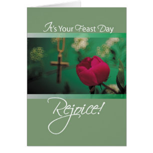Feast day cards invitations zazzle 2686 feast day rejoice card m4hsunfo Images