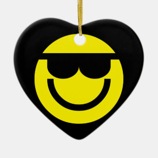 2699-Royalty-Free-Emoticon-With-Sunglasses COOL DU Christmas Ornament