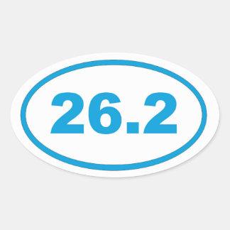26.2 Cyan Blue Oval Sticker