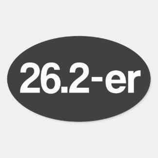 26.2-er or Marathoner - Marathon Runners Oval Sticker