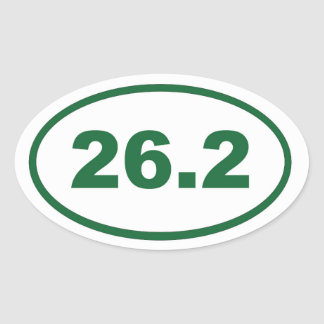 26.2 Green Oval Sticker