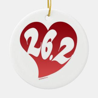 26.2 Heart Christmas Ornament