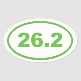 26.2 Light Green Oval Sticker