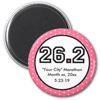 26.2 Marathon 6 Cm Round Magnet