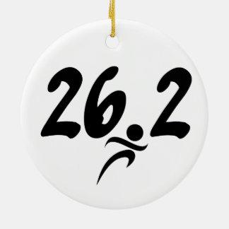 26.2 marathon christmas ornament