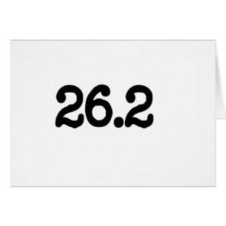 26.2 Marathon Definition Greeting Card