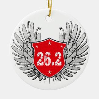 26.2 Marathon Shield Christmas Ornament