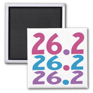 26.2 marathoner - Marathon Running themed Square Magnet
