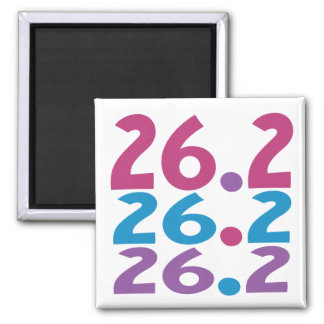 26.2 marathoner - Marathon Running themed Square Magnet