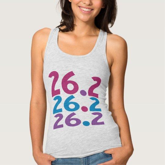 26.2 marathoner Womens Slim Racerback Runner Theme Tank