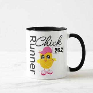 26.2 Miles Marathon Runner Chick Mug