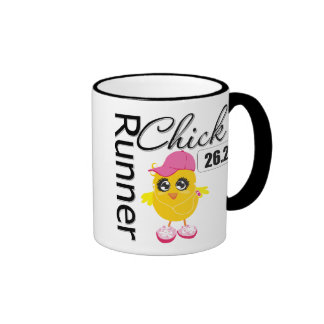 26.2 Miles Marathon Runner Chick Ringer Mug
