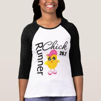 26 2 Miles Marathon Runner Chick T Shirts