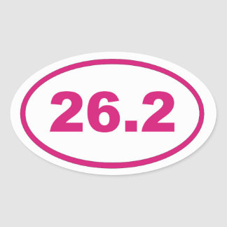 26.2 Pink Magenta Oval Sticker