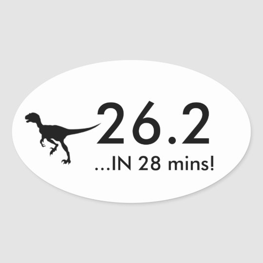 26.2 Raptor Oval Sticker