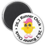 26.2 Runner Chick Refrigerator Magnets