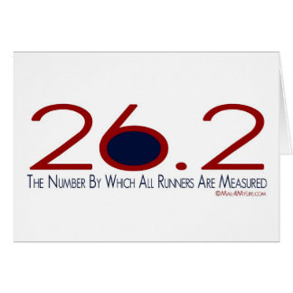 26.2 The Number Congratulations Greeting Card
