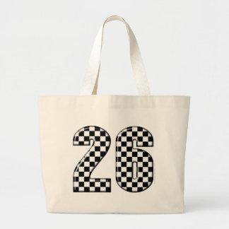 26 auto racing number jumbo tote bag