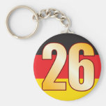 26 GERMANY Gold Basic Round Button Key Ring