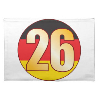 26 GERMANY Gold Placemat