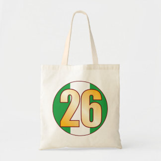 26 NIGERIA Gold Tote Bag