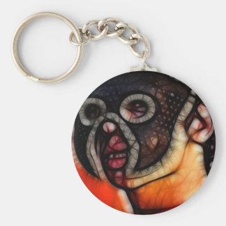 26 - Penumbra Mask Basic Round Button Key Ring