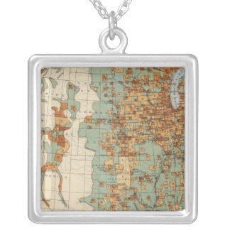 26 Population in cities >2000 inhabitants, 1900 Silver Plated Necklace