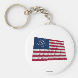 26-star flag, Great Star pattern Basic Round Button Key Ring