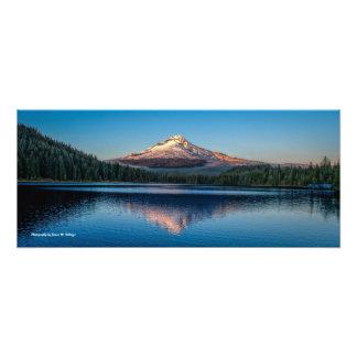 "26"" x 11"" Mount Hood from Trillium Lake Photo Print"